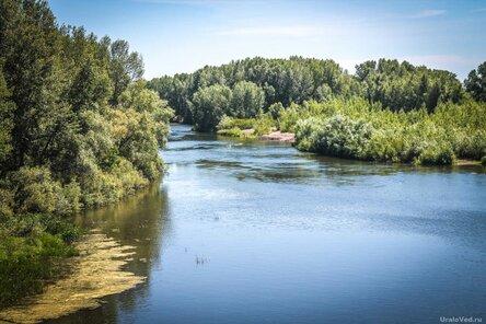 Река Урал в Кизильском, Челябинская область