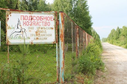 Забор оленьей фермы Уральского завода гражданской авиации