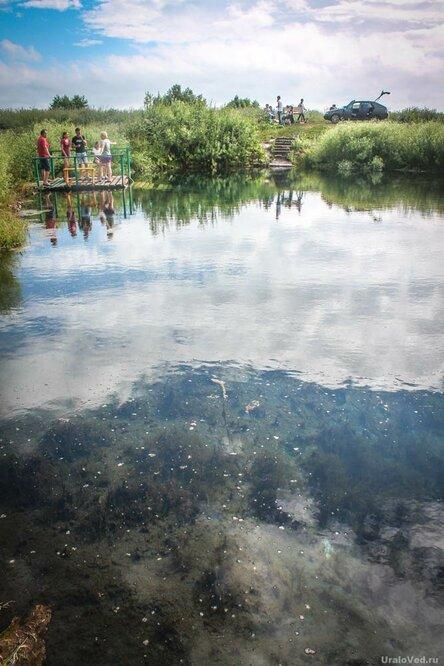 Голубое озеро в окрестностях Уфы