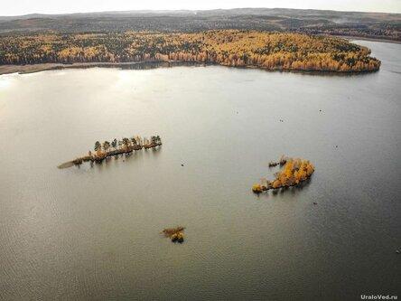 Острова на озере Таватуй с высоты птичьего полёта