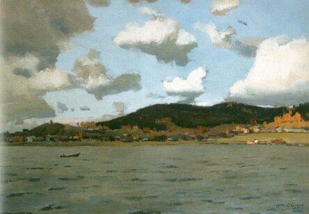 Картина А. Бурака. Озеро Таватуй