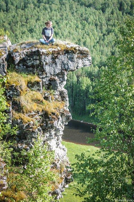 Скала на реке Косьве