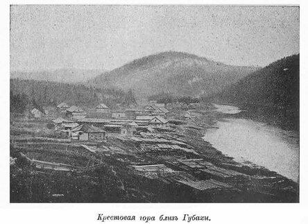Река Косьва около Губахи. Старое фото